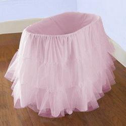 Bassinet Petticoat, color: Pink, size: 13x29