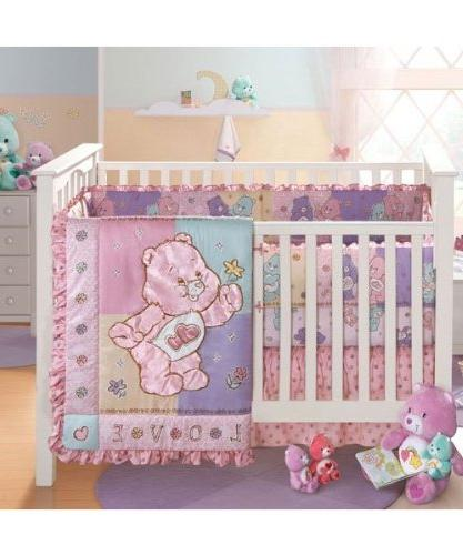 Care Bears Bedding Crib Set Infant Girls New