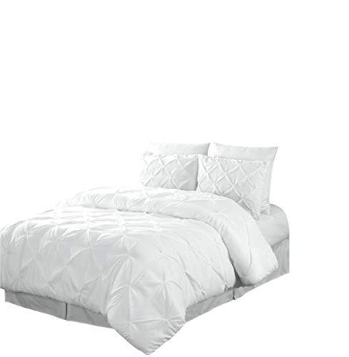 Chezmoi Collection Pintuck Comforter Set