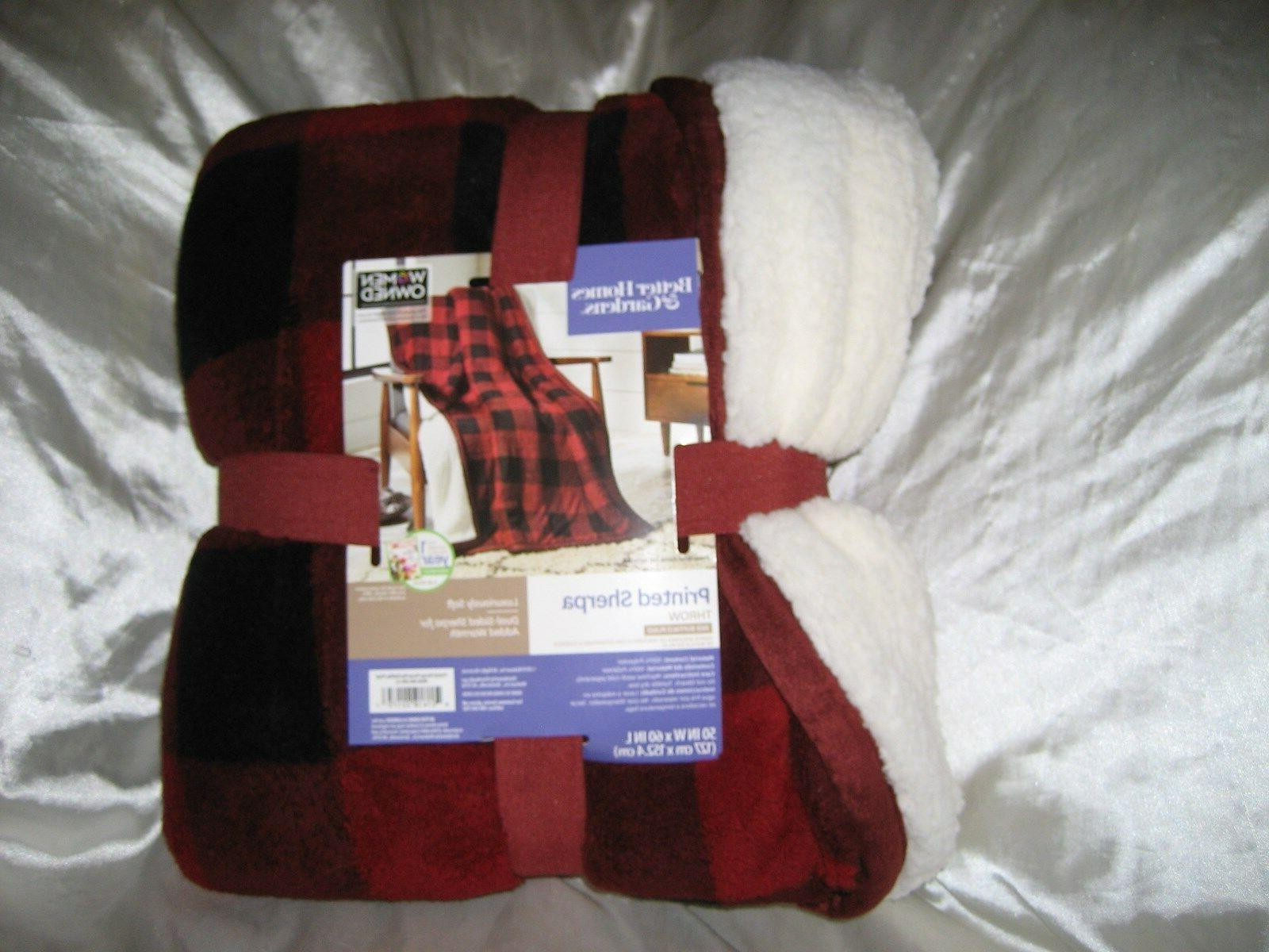 8a64d4d4db Better Homes   Gardens New Printed Sherpa Red Buffalo Plaid