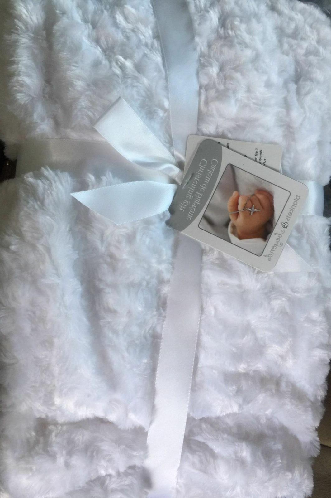 blankets and beyond white christening gift blanket