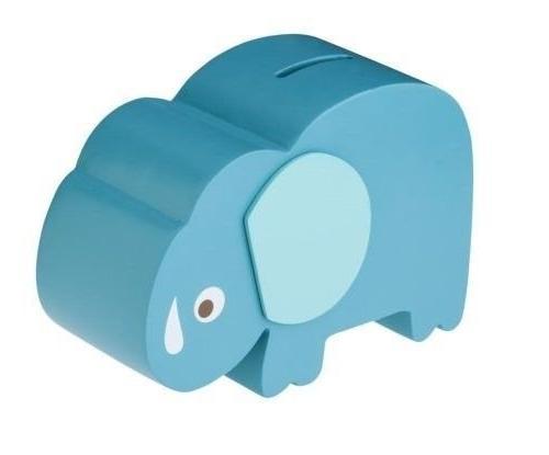 blue elephant coin bank