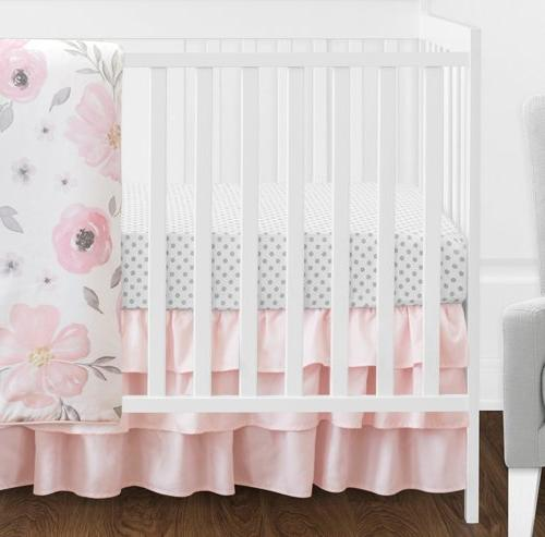 Sweet 11-Piece Blush Pink, White Watercolor Girl Without Polka