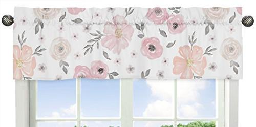 Sweet Jojo 11-Piece Blush Grey White Floral Girl Crib Without Rose Flower Polka
