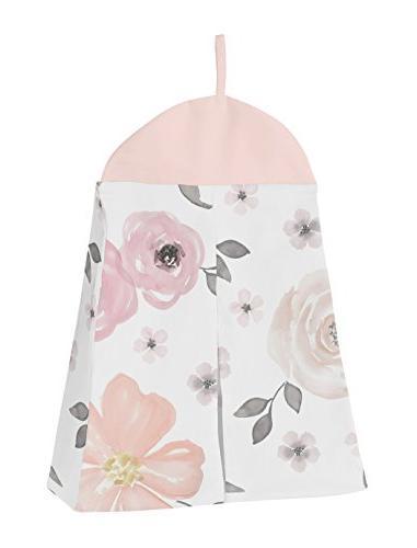 Sweet Jojo Designs 11-Piece Blush Pink, Grey White Watercolor Baby Girl Crib Bedding Without Polka Dot
