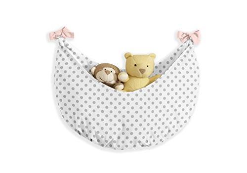 Blush Pink, Grey White Watercolor Floral Girl Crib Bedding Set Without Polka