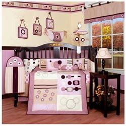 Boutique Baby Girl Artist 13PCS CRIB BEDDING SET By GEENNY D