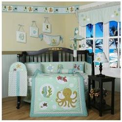 Boutique New Sea World Animals 13PCS CRIB BEDDING SET By GEE