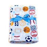 "Baby Boy Sports Themed Soft Blanket 30"" X 40"""