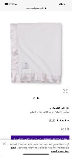 BRAND NEW! $94 MSRP- LITTLE GIRAFFE LUXE Pink Baby Blanket w