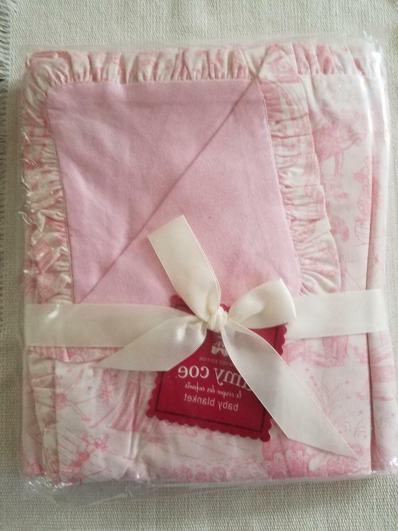 brand new ruffled circus toile baby blanket