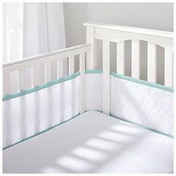 Breathable Baby Deluxe Embossed Mesh Crib Liner - White/Seaf