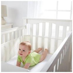 Breathable Baby Deluxe Embossed Mesh Crib Liner - Natural