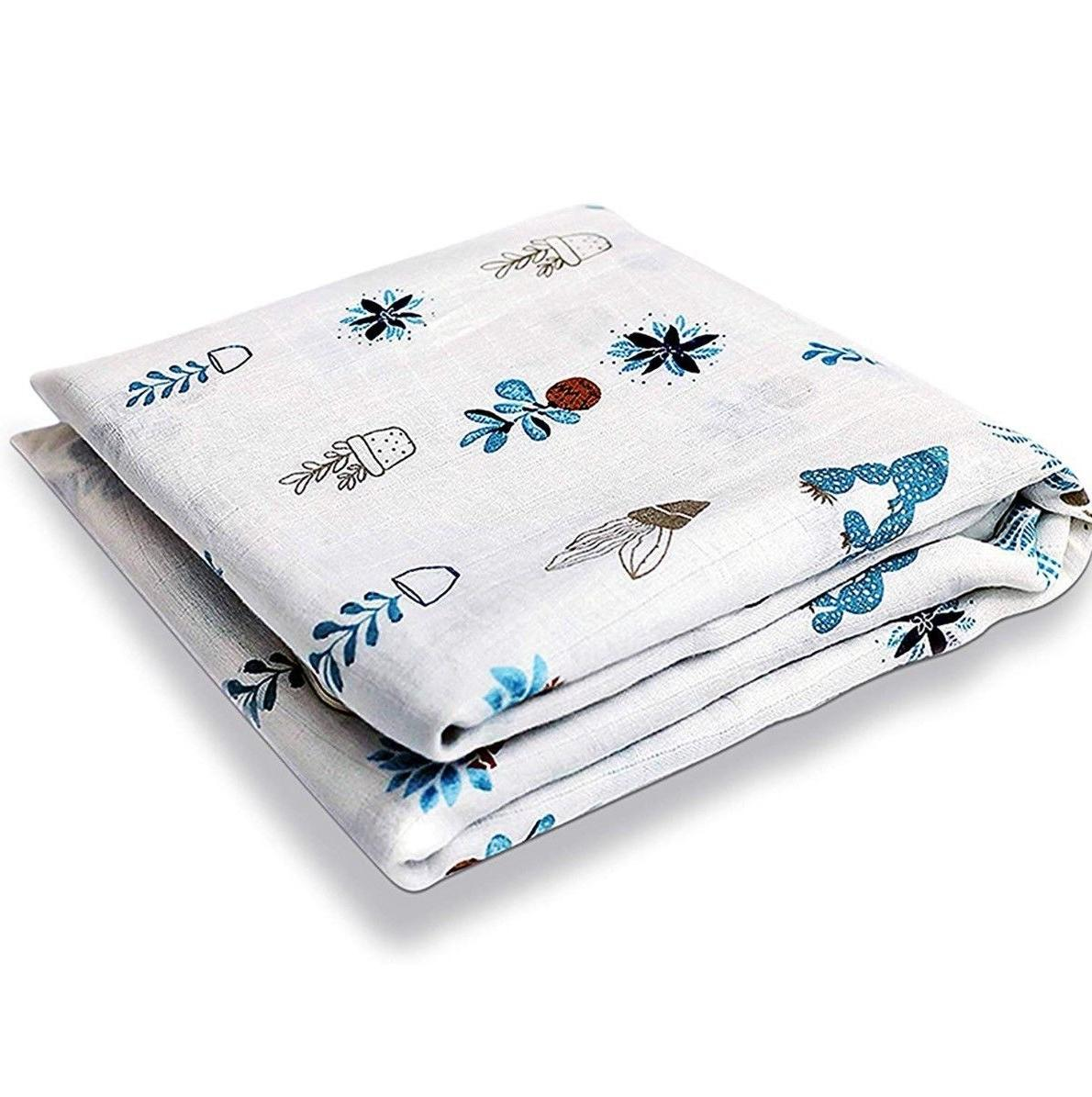breathable swaddle blankets muslin bamboo cotton baby
