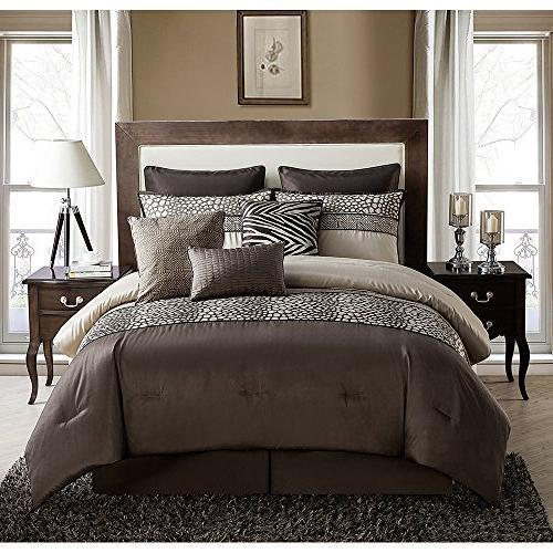 brown mali queen comforter set