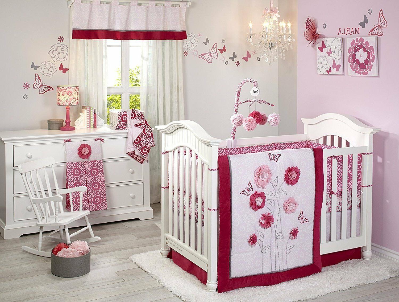 NoJo Butterfly Bouquet 4 Piece Crib Set