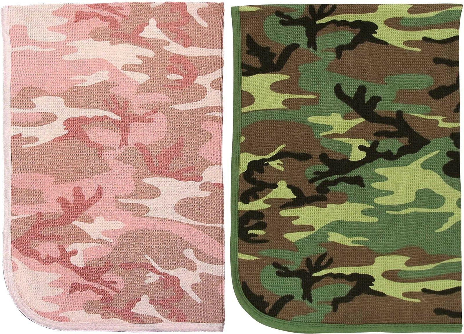 camouflage infant receiving baby thermal waffle knit