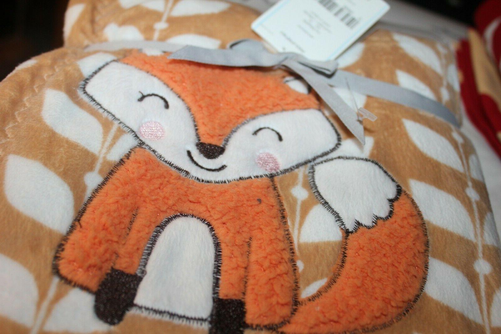 CARTER's Baby blanket floral vine camel/ orange NWT