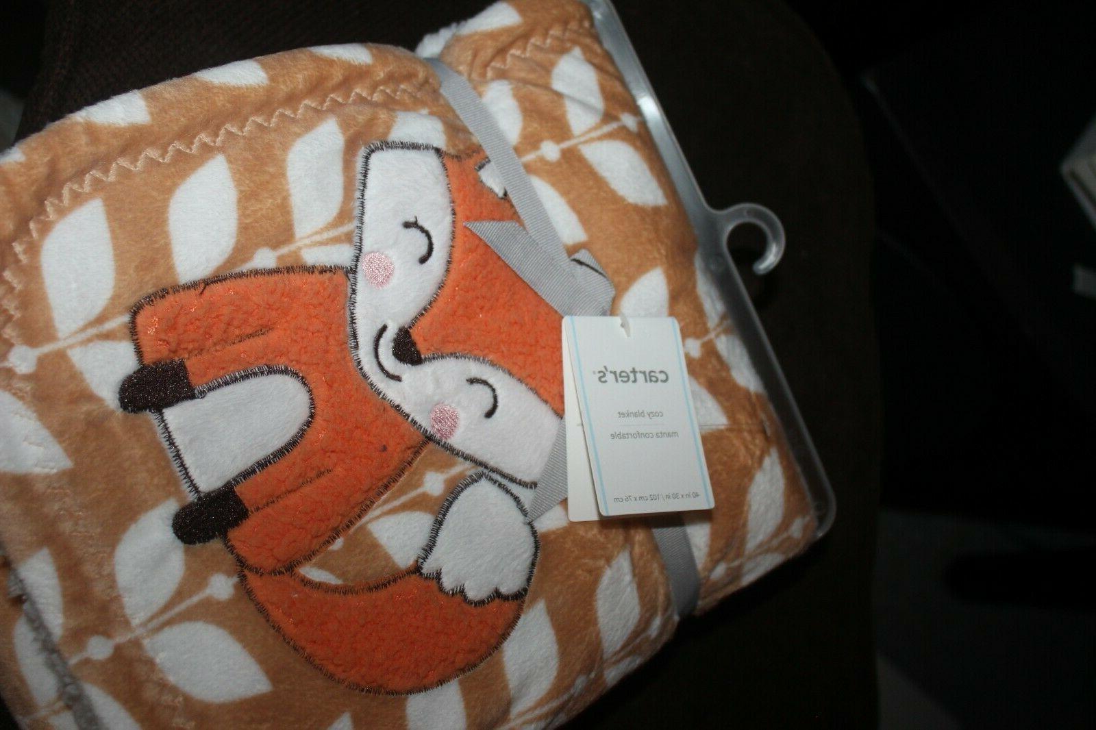 CARTER's blanket floral orange