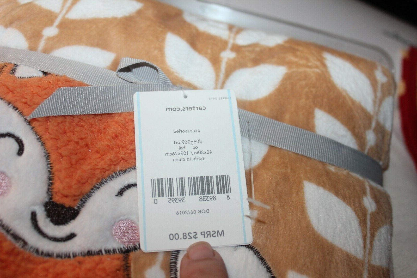 CARTER's Blanket FOX blanket orange