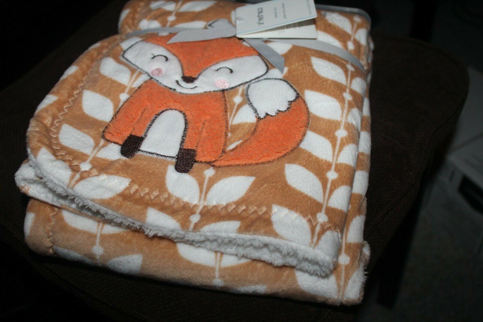 carter s baby blanket fox blanket floral