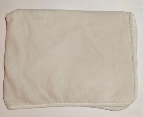 Carter's Blanket Cloud Soft Velboa Plush Gray Elephant & Clouds