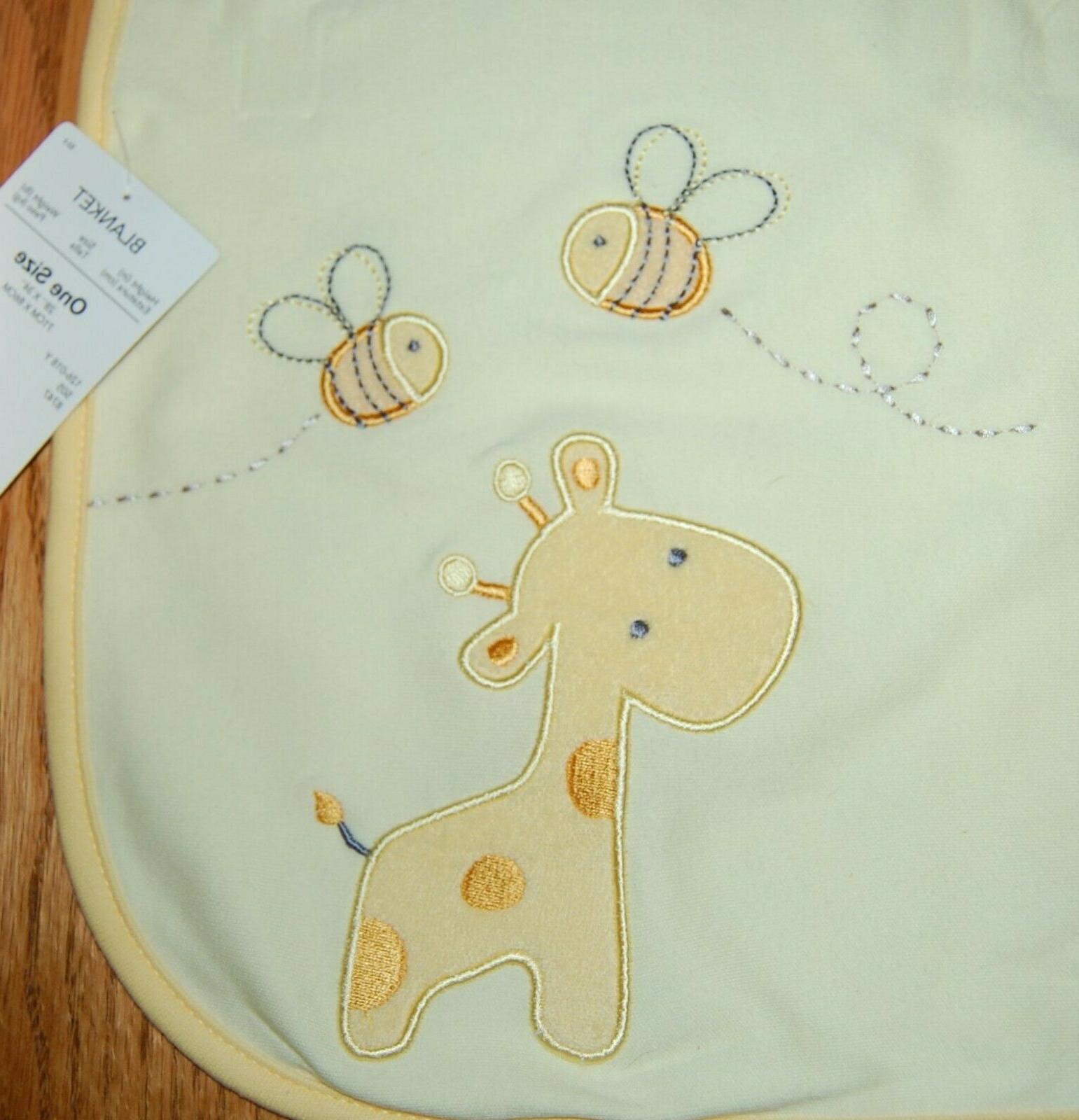 Carter's blanket giraffe, bees, zoo NWT