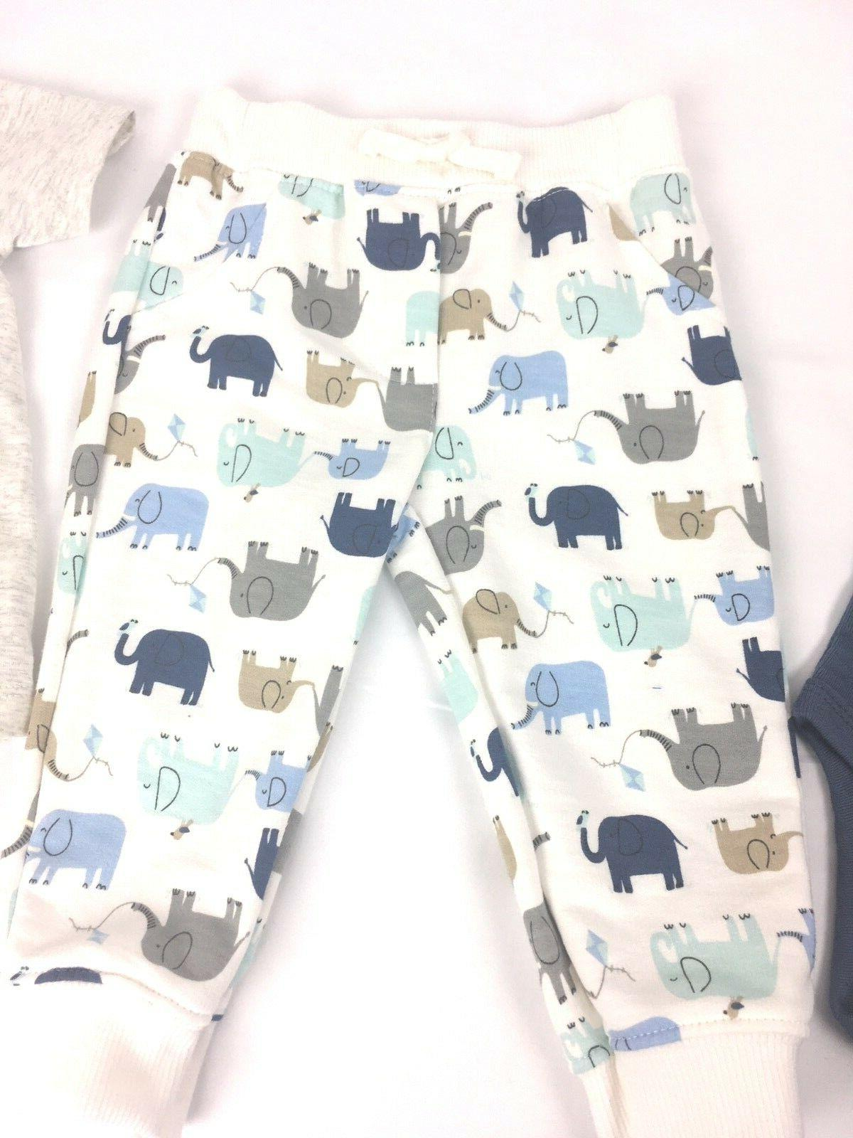 Carter's Baby 3 Piece Elephant Shirt Bodysuit Set 12