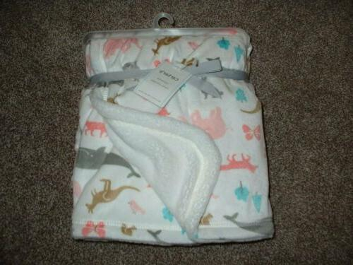 carter s baby girl cozy animal blanket