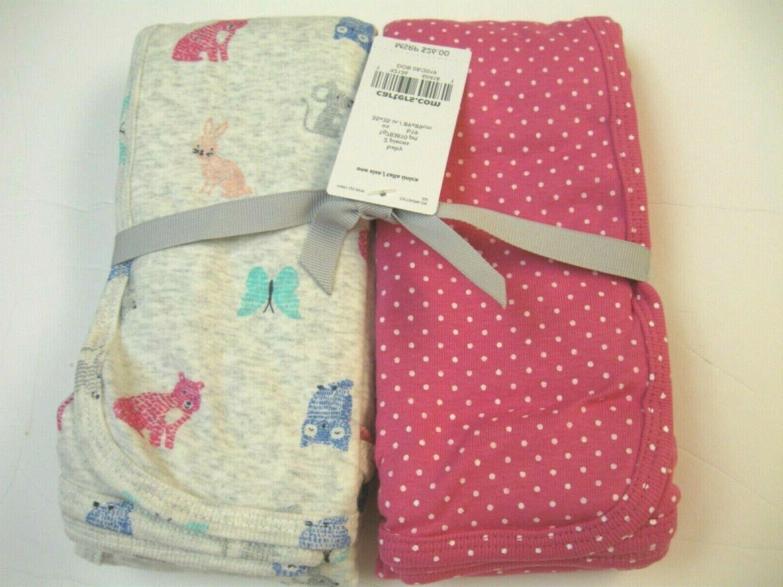 Carter's Baby Swaddle Blanket Polka and