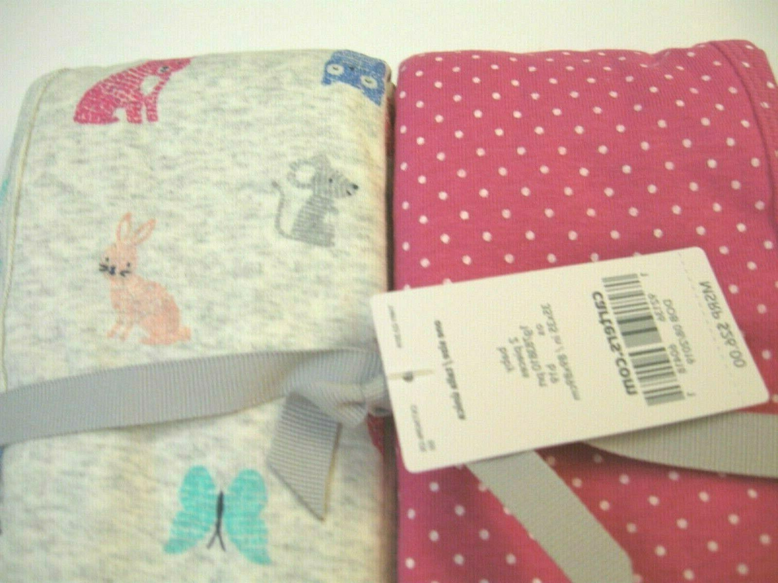 carter s baby girl swaddle blanket set