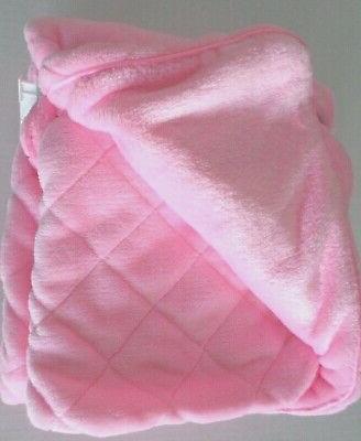 Carter's Baby Girls Plush Diamond Blanket 2 Layer 40x30 Pink