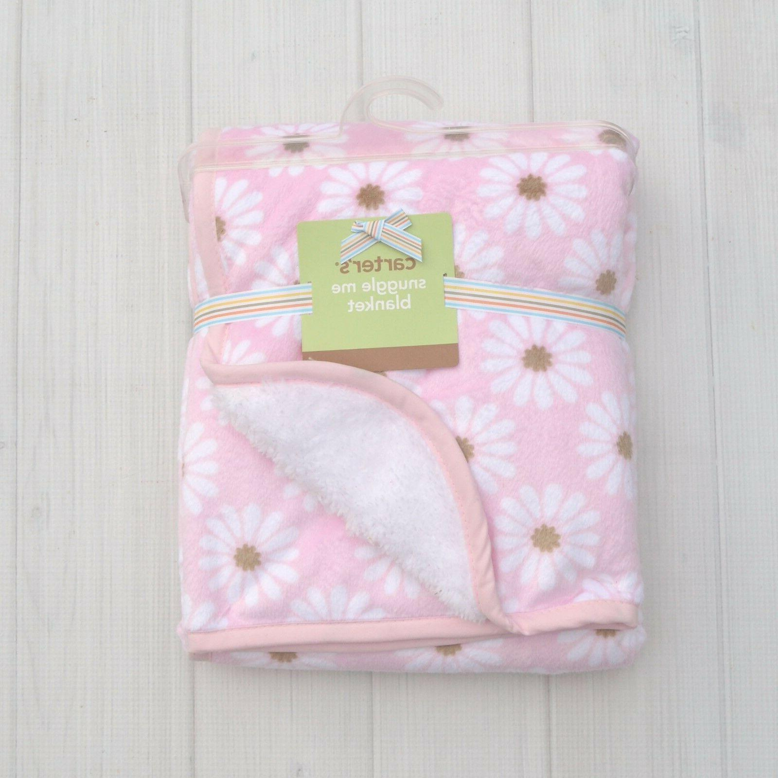 carter s pink brown daisy flowre plush