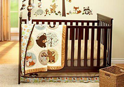 Carter's Woodland Friends Collection 4 Piece Crib Bedding Se