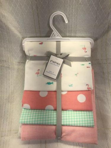 carters 4 pack baby receiving flannel cotton