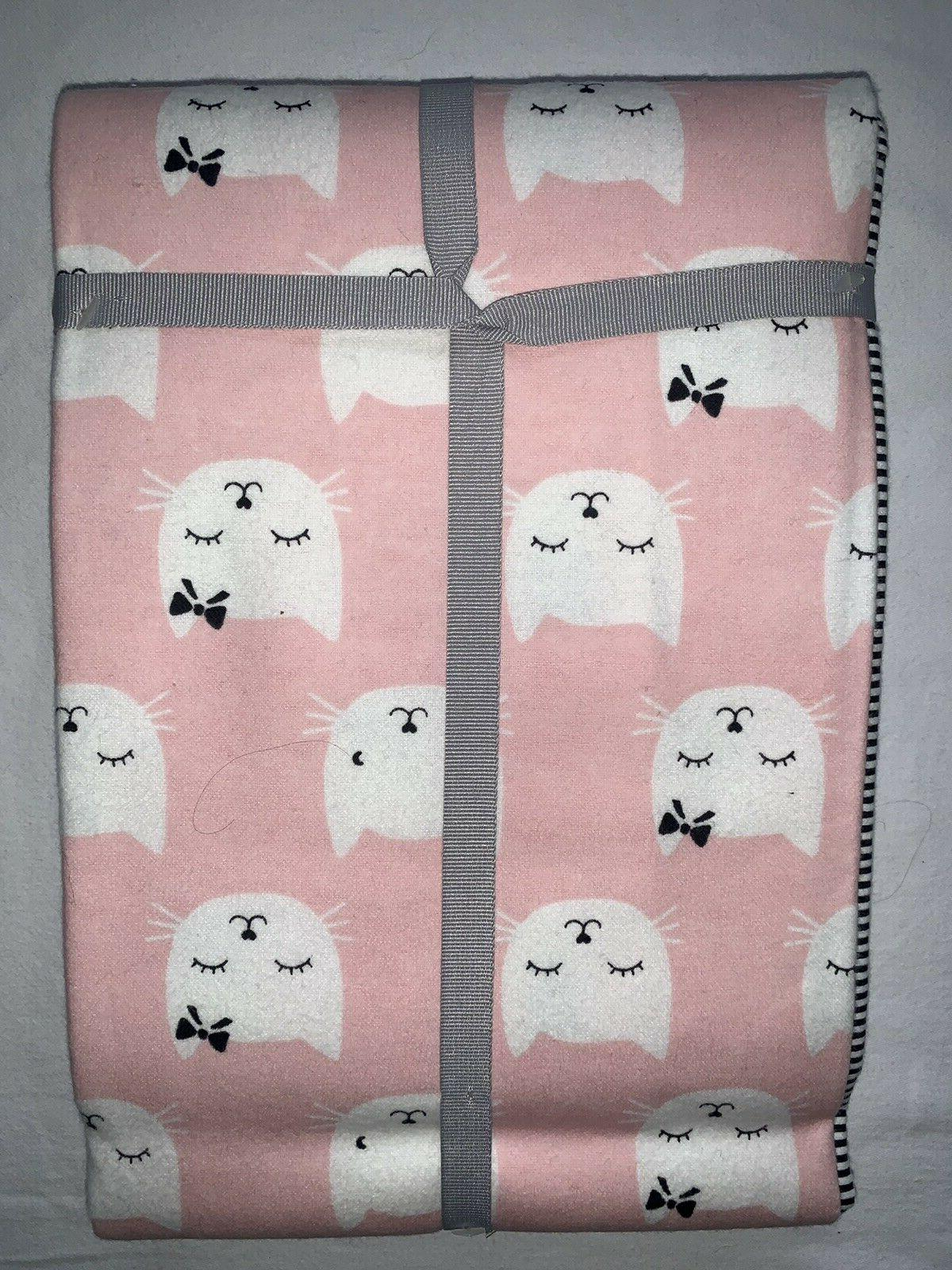 Carters Baby Pack Baby Girl Infant Receiving Blankets Kitty Cat