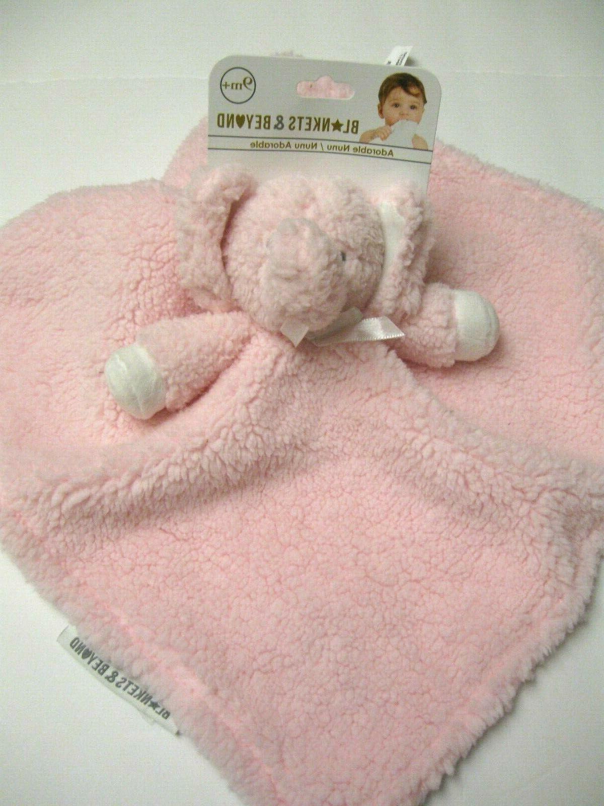 carters baby girl elephant sherpa security blanket
