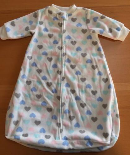 CARTER'S Baby Girls Fleece Sleep Sack Bag One-Piece Hearts