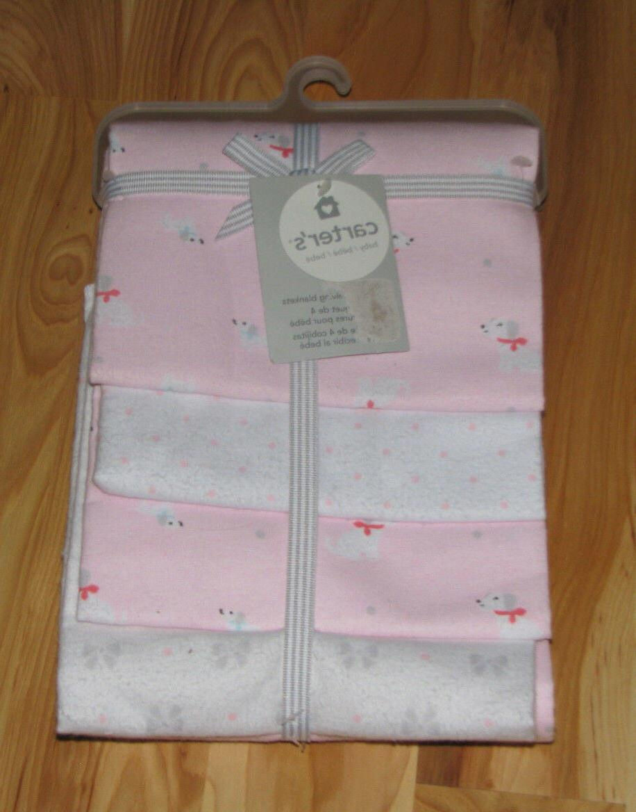 carters cotton flannel baby girl receiving swaddling