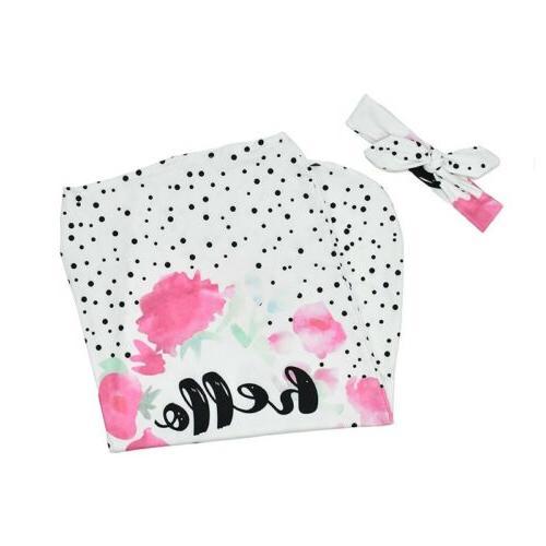 Cartoon Headband Swaddle Set Baby Soft