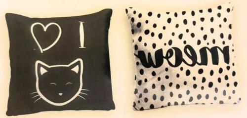 Cat Blanket Throw Kittens And Pillow Meow New
