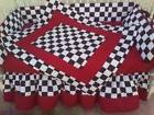 New 7 piece Checkered Flag Baby Crib Bedding Set w/ red fabr