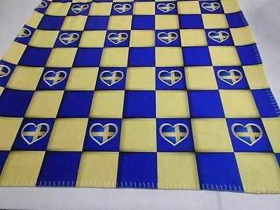 Checkered Fleece Baby Blanket - Norway Sweden Finland or Den