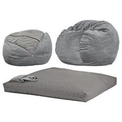CordaRoy's Chenille Convertible Sleeper Beanbag Chair Charco