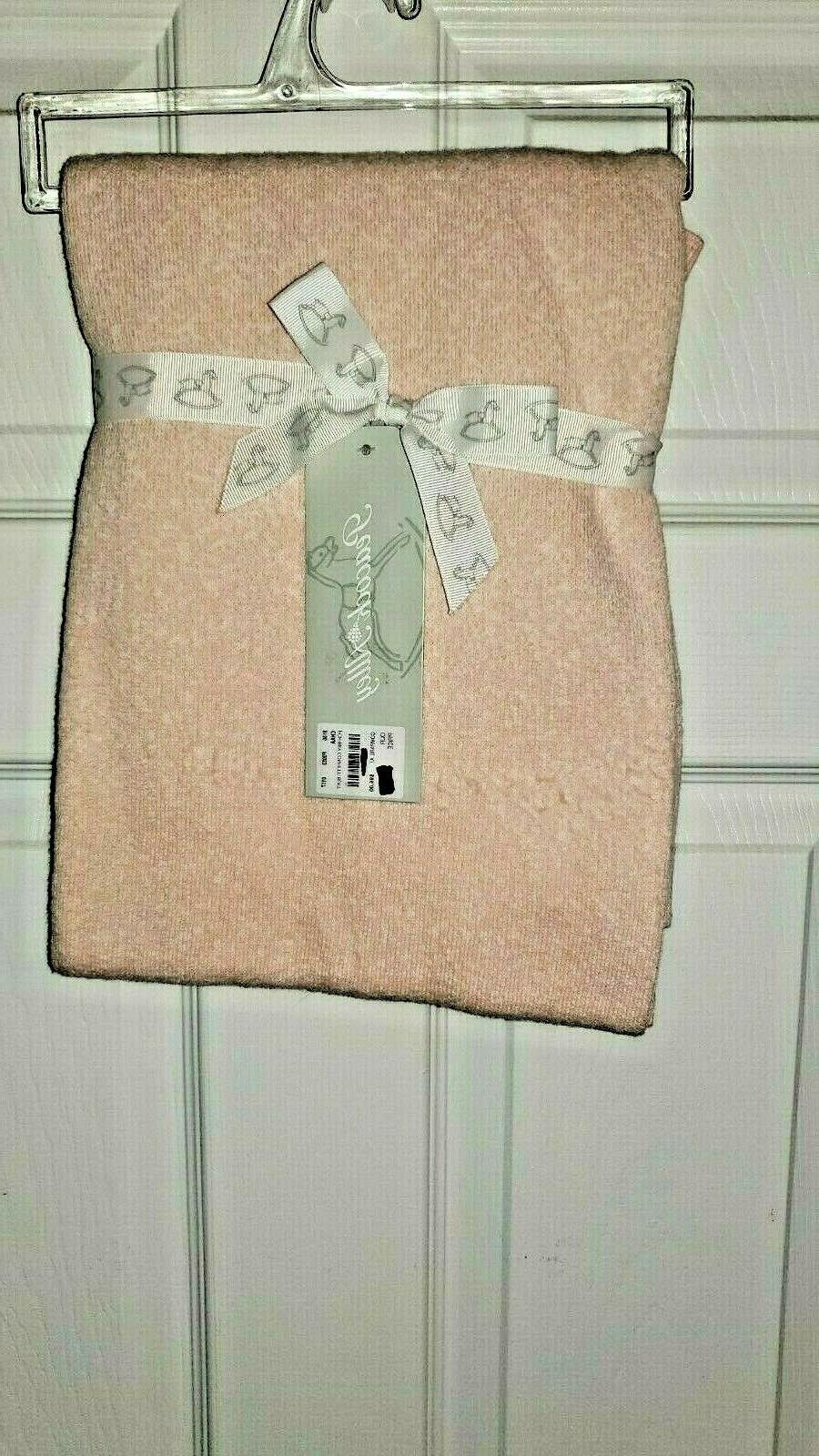 cotton confetti baby blanket pink white 30