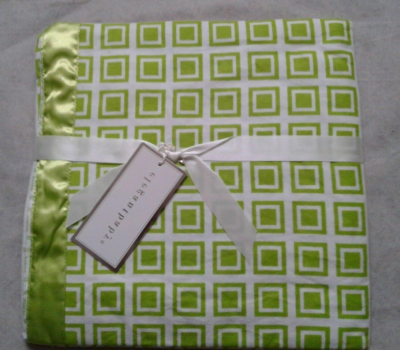 Elegant Baby Cotton Flannel Security Blanket Satin with Trim
