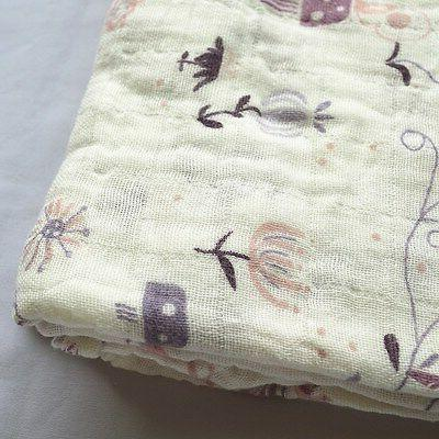 Cotton Muslin Baby Blanket Wrap Newborn 120x120cm Girl
