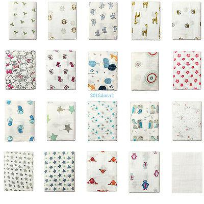 Cotton Swaddle Blanket Wrap Newborn 120x120cm Girl