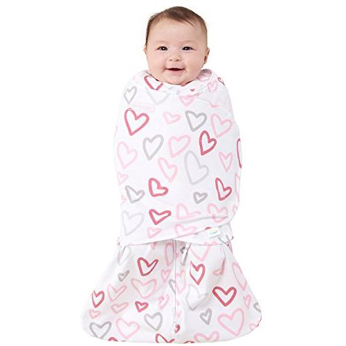 Halo Swaddle Pink Hearts,