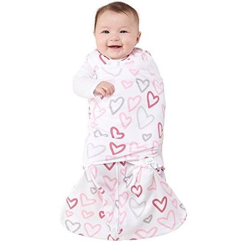 Halo Swaddle Wearable Modern Pink Hearts,